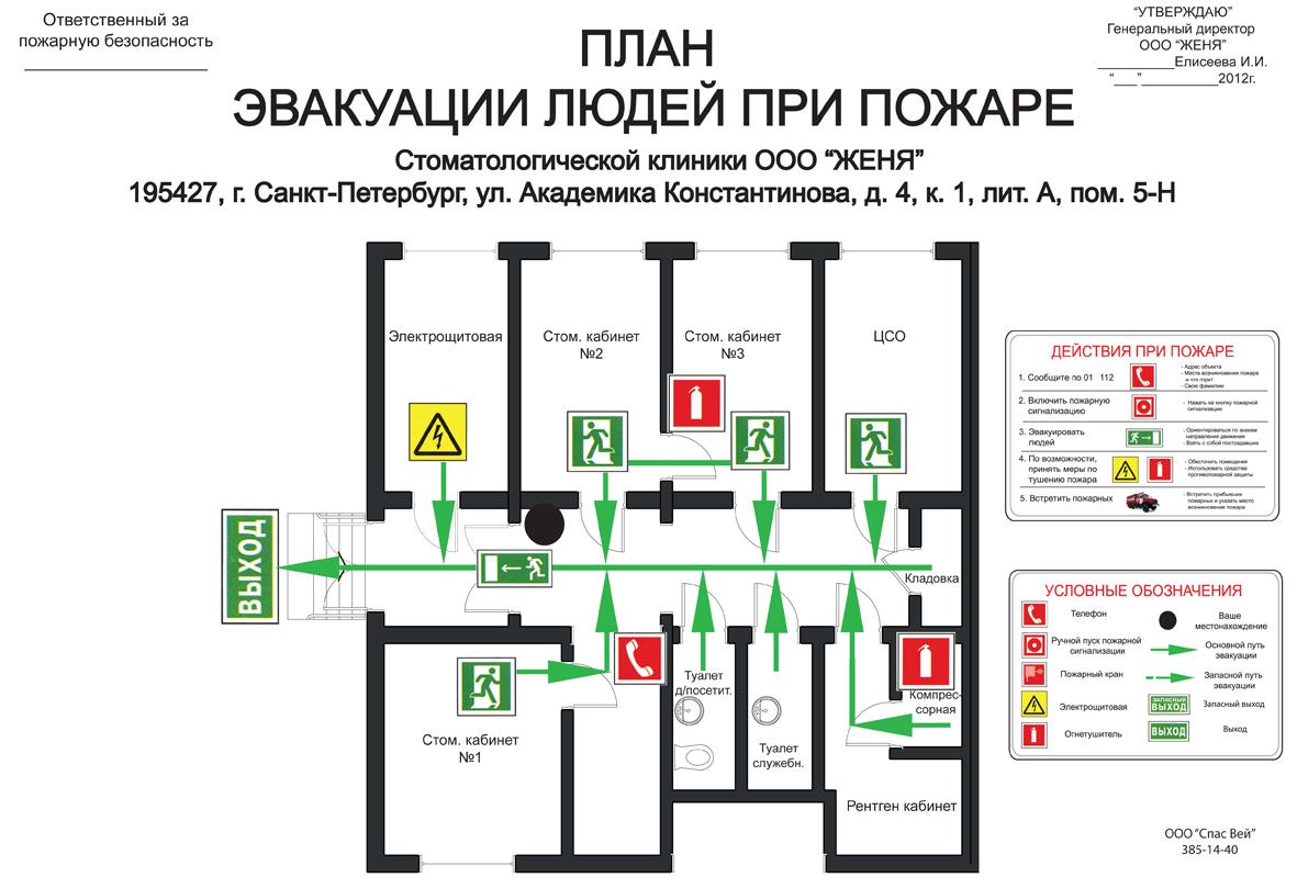 каталог планы эвакуации